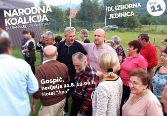 Lista Narodne koalicije u Gospiću