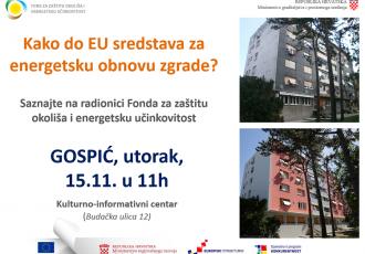 U KIC-u u Gospiću o energetskoj obnovi zgrada
