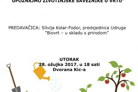U KIC-u Gospić razmjena sjemenja uz predavanje o bioraznolikosti