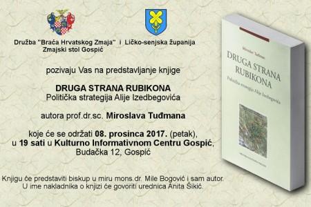 Sutra u Gospiću predstavljanje knjige Miroslava Tuđmana o političkoj strategiji Alije Izetbegovića