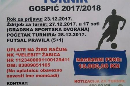 Prijavite svoje ekipe na Zimski malonogometni turnir 2017./2018.!