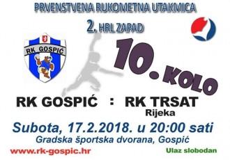 Podržite večeras od 20 sati rukometaše Gospića u utakmici protiv jakog Trsata