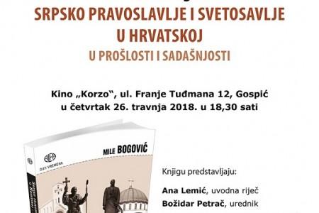 Večeras u Gospiću predstavljanje knjige mons.Mile Bogovića o srpskom pravoslavlju i svetosavlju