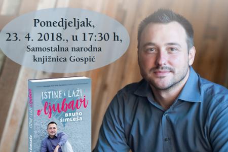 U Samostalnoj narodnoj knjižnici u Gospiću danas u 17:30 književni susret s Brunom Šimleša