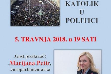 """Na """"Tribini četvrtkom"""" europarlamentarka Marijana Petir govori o tome kako biti katolik u politici"""