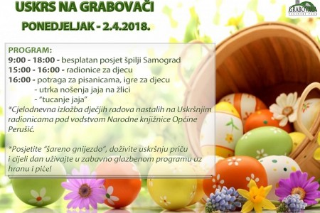 """Sutra posjetite manifestaciju """"Uskrs na Grabovači""""!"""