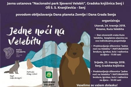 """Sutra u Krasnu, a u srijedu u Senju predstavljanje slikovnice """"Jedne noći na Velebitu""""!"""