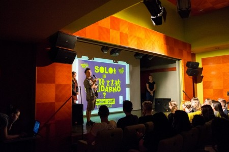 """Na događaju """"Solo ili solidarno"""" društveno angažirani srednjoškolci  iz Zagreba i Gospića  predstavili su različite aktivnosti društvenog i humanitarnog djelovanja"""