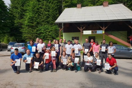 Završena prva planinarska škola društva Gromovača