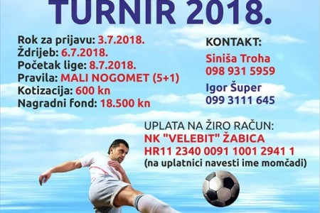 """Do 3.srpnja prijavite ekipe za Ljetni malonogometni turnir """"Gospić 2018."""""""