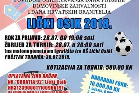 Prijavite se za malonogometni turnir u Ličkom Osiku!!!