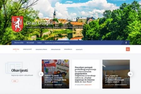 Grad Gospić ima novu web stranicu, aktivan je na Facebooku, a ima i svoj hashtag