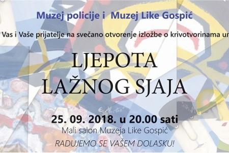 """U utorak u Gospiću otvaranje izložbe krivotvorenih umjetnina """"Ljepota lažnog sjaja""""!"""