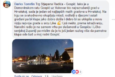 BRAVO: Gospićanin Darko Tomrlin osvojio pametnu klupu za svoj grad!!!