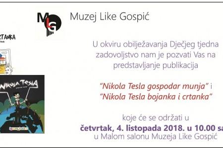 U Muzeju Like predstavljanje publikacije,bojanke i crtanke o Nikoli Tesli