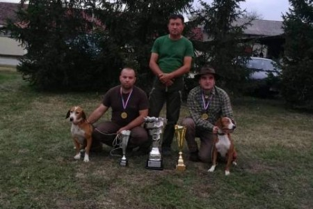 BRAVO: Psi iz Ličko-senjske županije, Luna i Pepsi,  državni prvaci na prvenstvu glasnog gona na divlju svinju u gateru!!!