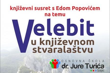 U srijedu u Gospiću književni susret s Edom Popovićem