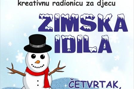 """U četvrtak 13.prosinca u gospićkoj knjižnici radionica za djecu """"Zimska idila""""!"""
