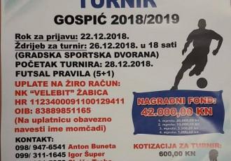 Prijavite se na Zimski malonogometni turnir Gospić. Pobjedničkoj ekipi čak 26.000 kuna!!!