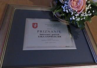 Portal Lika-express dobio nagradu za poticaj i razvoj sporta!!!