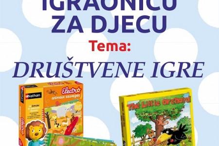 """Danas u 18 sati u Samostalnoj knjižnici Gospić radionica za djecu """"Društvene igre""""!"""