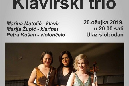 Klavirski trio u srijedu nastupa u Gospiću