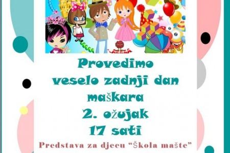 U subotu od 17 sati veselo uz male maškare u Pučkom u Gospiću