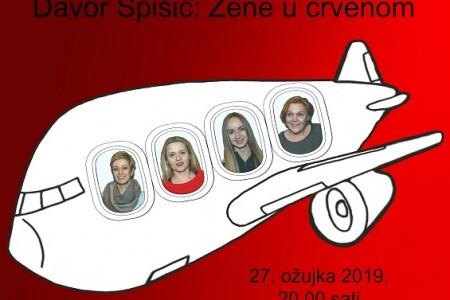 """Večeras ne propustite premijeru predstave Amaterskog kazališta Gospić """"Žene u crvenom""""!"""
