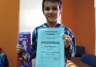 BRAVO: Karlo Matijević izvrstan, novi uspjeh kadeta šahovskog kluba Gospić