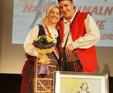 Karolina Jurčević iz HKUD-a Široka Kula najljepša djevojka u narodnoj nošnji!!!
