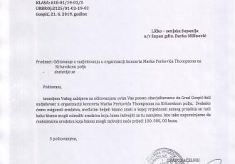 """Karlo Starčević: """"primjedbe i prozivanje Grada Gospića i gradonačelnika kako je Grad pasivan i indolentan na proslavu VRO Oluja je nekorektno, ne stoji i ne možemo je prihvatiti"""""""