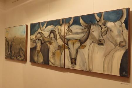 Šišmiši, boškarini, bizoni i pejzaži Marice Vrkljan Bazjak krase galeriju Muzeja Like Gospić