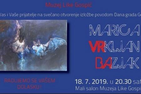 Večeras otvorenje izložbe autorice Marice Vrkljan Bazjak, rođene Gospićanke