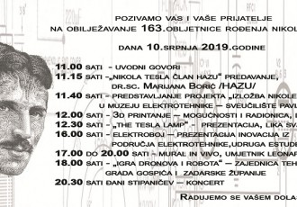 U srijedu 10.srpnja MC Nikole Tesle organizira obilježavanje 163 godine od Teslina rođenja
