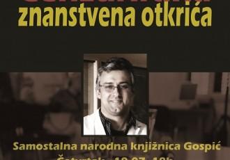 Ne propustite: danas u Gospiću predstavljanje knjige uglednog znanstvenika prof.dr.Tomislava Terzina