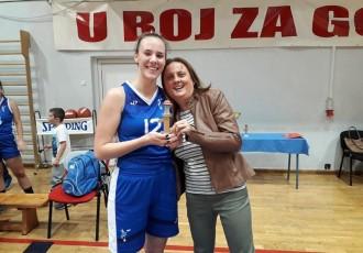 Gospićkim košarkašicama turnir Gospić 2019 , Lara Zeba najbolja igračica turnira!