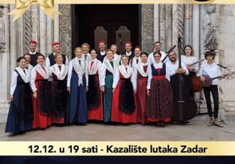 HKUD Široka Kula  nastupa na koncertu Gradu Za dar u Zadru