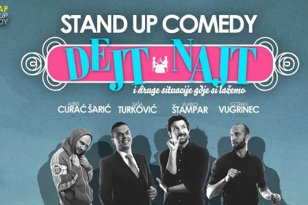 """Ne propustite: stand up comedy """"Dejt najt""""  u KIC-u Gospić"""