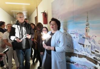 LIJEPA PRIČA: Likovna udruga Lika Općoj bolnici Gospić donirala mural prepoznatljivog motiva grada Gospića
