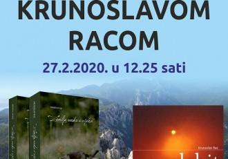 Krunoslav Rac u četvrtak u Samostalnoj narodnoj knjižnici Gospić
