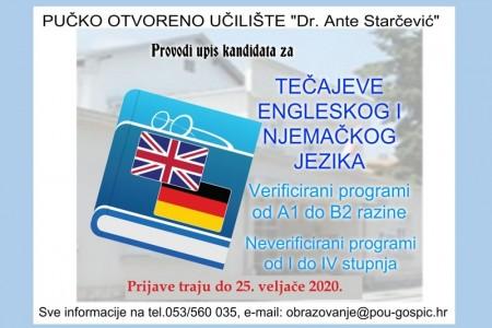 Prijavite se na Tečaj engleskog i njemačkog jezika