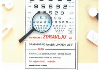 Srijedom o zdravlju, 5.veljače o zdravlju  vida i očnog tlaka