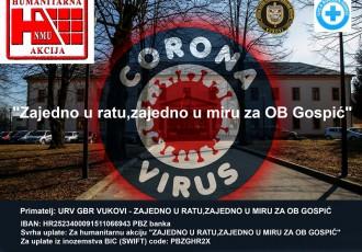 """Počela je humanitarna akcija veterana Vukova """"Zajedno u ratu,zajedno u miru za OB Gospić"""" za kupnju respiratora gospićkoj bolnici"""