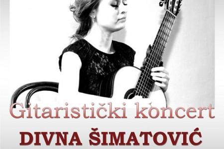 U sklopu Klasike u Pučkom 2.rujna u Gospiću dođite na Gitaristički koncert Divne Šimatović