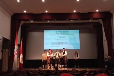 Muška pjevačka skupina HKUD-a Široka Kula svojim nastupom zaslužila je predstavljanje na državnoj smotri  malih vokalnih sastava