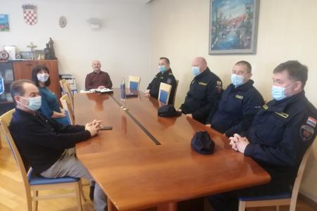 Predstavnici JVP Gospić na prijemu kod gradonačelnika