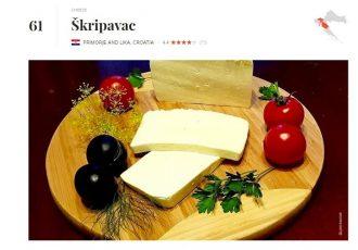 LIJEPO: naš lički škripavac 61.na ljestvici 100 najbolje ocijenjenih sireva na svijetu!!!