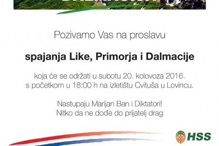 Spajanje Like,Dalmacije i Primorja u Lovincu