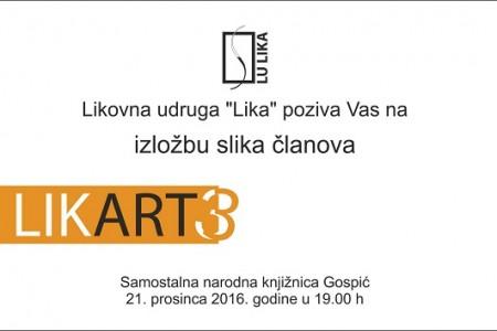 Dođite na izložbu Likart3