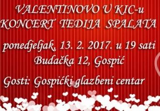 KIC Gospić za Valentinovo vam daruje koncert Tedija Spalata